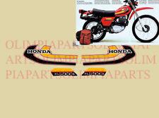 Honda XL 500 S '79 '80 Motorrad Rot Aufkleber