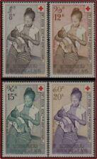 LAOS PA N°31/34** Croix-Rouge, 1958 LAOS #C31-C34 Cross MNH