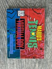 Please Read Only Instruction Manual Mario's Tennis (Nintendo Virtual Boy, 1995)