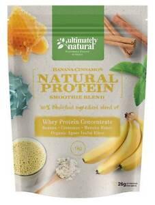 Natural Banana Cinnamon Whey Protein Powder Shake Gluten Free Fruit Spice Blend