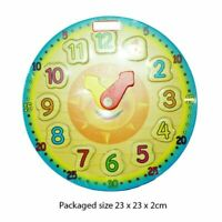 Wooden Clock Puzzle Sorting Toy For Toddler Baby Kids Early Educational Play UK