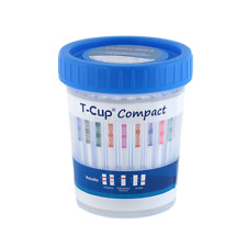 16 Panel Drug Test Cup Compact T-Cup - FDA Approved - CLIA Waived - 10 Pack