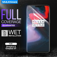 OnePlus 6T 6 Screen Protector, AquaShield HD FullCoverage Film for One Plus