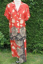 Jaques Vert Orange African Pattern versatile Top & Skirt size 16 Good Condition