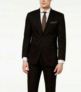 Perry Ellis Portfolio Slim Fit Suit Jacket Mens 40L 40 Black $295