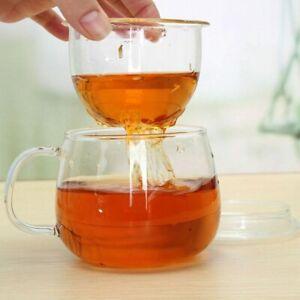 Tea Infuser Glass Tea Set Water Cup Heat Resistant Coffee Drinkware Filter Lid