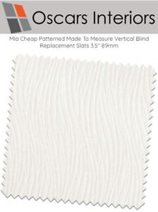 """Mia Cheap Patterned Made To Measure Vertical Blind Replacement Slats 3.5"""" 89mm"""