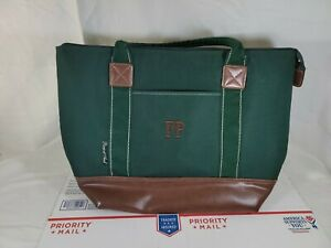 Picnic at Ascot Large Insulated Cooler Bag Green / brown vgc