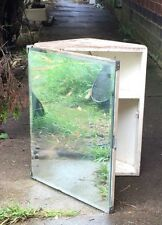 1950s Metlex Corner Bathroom Cabinet with Bevelled Mirror Shabby Chic Project