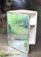 Anni'50 Metlex angolo ARMADIETTO DA BAGNO CON CORNICE specchio shabby chic progetto