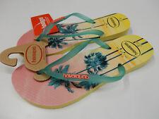 Havaianas Womens Slim Paisage Sandal Pollen Yellow Size 6