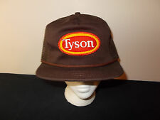 VTG-1980s Tyson Chicken rope trucker patch leather strapback mesh hat sku12