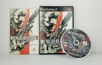Metal Gear Solid 2: Sons of Liberty (Sony PS2) Konami W/ manual tested & Works