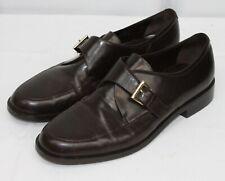 Etienne Aigner Leather Shoes Elvis Loafer Slip On Flats Career Buckle 8.5 Wide