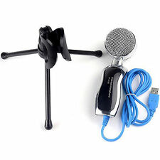 USB Professional Condenser Microphone Mic Sound Recording With Shock Mount Black