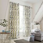 Stella Floral Print Lined Eyelet Ring Top Curtains - NOW £10, £15 & £20