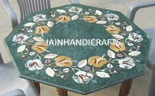 2'x2' marble coffee green dining kids corner center table top inlay malachite