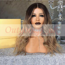 Brazilian 100% Human Remy Hair Wigs Ombre Blonde Lace Front Full Lace Wigs