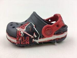 Crocs 202851 Star Wars Kylo Ren Villain Kids Clogs Size C4/5, Gray 2592