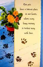 Sympathy Braille Added Greeting Card - Pets Forever Place In Our Hearts - SY032