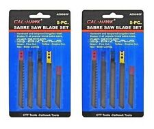 10 PC Sabre Jigsaw Scroll Saw Blade Set - Scroll,Flush Fine Coarse Metal Blade