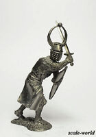 Tin soldier, figure. Knight of the Teutonic order, 13th century.  54mm