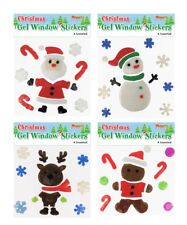 Christmas Window Gel Stickers Xmas Decoration Reindeer Design