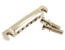 Kluson Lightweight Aluminum Wraparound Stop Bar Nickel W/Steel Studs - KLP-1127N