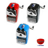 Helix Desktop Rotary Pencil Sharpeners - Metal Heavy Duty Body & Desk Clamp