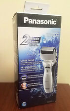 New Panasonic Pro-curve Twin Blade Men's Wet Dry Rechargeable Shaver ES-RW30-S