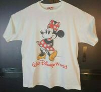Minnie Mouse Walt Disney World Mickey Mouse Inc Mens M White T-Shirt Vintage