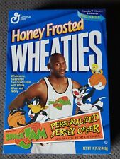 Michael Jordan Space Jam Honey Frosted Wheaties 1996 Sealed box / jersey offer