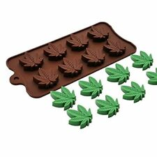 NEW  MARIJUANA LEAF CHOCOLATE/ICE/FONDANT MOULD (1)