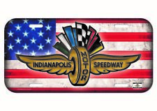 Indianapolis Motor Speedway American flag Collector License Plate Brickyard Indy