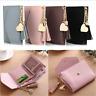 Women Leather Mini Tassel Wallet Card Holder Clutch Coin Purse Handbag Purse