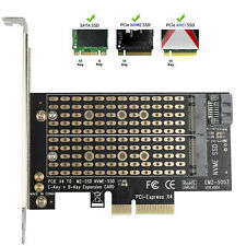 M.2 NGFF to Computer SATA Dual SSD PCI PCIe x4 x8 x16 NVMe Express Adapter Card
