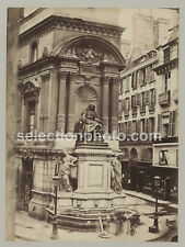 Photographie de la Place Molière PARIS - Tirage Albuminé original 1870 - 19x25cm