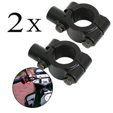 """2*Support de miroir Fixation pour moto Vélo Montage Guidon Retroviseur 10mm 7/8"""""""