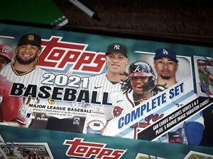 2021 Topps Baseball MLB Complete Set  OPEN BOX