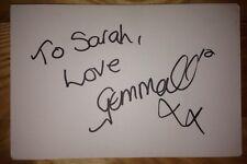 GEMMA OATEN SIGNED 6X4 WHITE CARD TV AUTOGRAPH EMMERDALE RACHEL TO SARAH