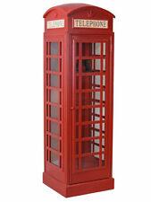 Palazzo Int FRF080 Englische Telefonzelle Holz-Vitrinenschrank - Rot