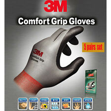 5Pairs 3M Nitrile Foam Coated Comfort Grip Safety Work Sports Gloves 5 Colors