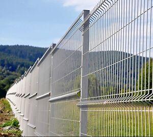 Zaun Gartenzaun 3D Zaun Einstabmattenzaun inkl Pfosten