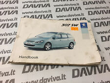 2003 2004 Peugeot 307 SW Station Wagon Estate UK Owner's Owner Manual Handbook