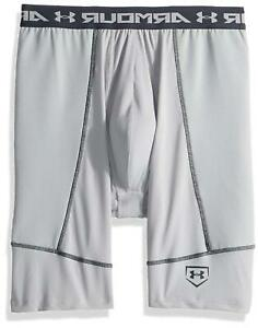Under Armour Boys' Baseball Slider w/ Cup, Baseball Gray, Grey, Size 0.0 T0AT