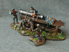 Mercenaries with a 70 pounder howitzer. 15th century. Elite tin soldiers 54 mm