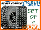 (SET OF 4) 33 12.5 R15 PRO COMP XTREME MT2 MUD TERRAIN TYRES - PICKUP BAYSWATER