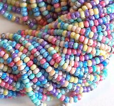 Picasso Tie Dye Rainbow Bead Mix 6/0 Czech Seed Beads, Preciosa 4mm Glass Beads