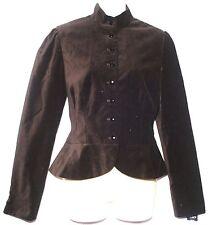 Chaps Black Velveteen Dressy Peplum Lined Jacket Blazer Womens Size M New $129