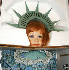 """1998 23"""" LTD DOMINIQUE """"LITTLE LIBERTY"""" Porcelain Doll w/ COA"""
